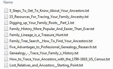 Genealogy PLR Articles